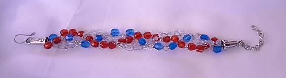 Náramky - Červeno-modrý náramok - 9133742_