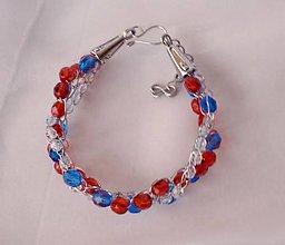 Náramky - Červeno-modrý náramok - 9133752_