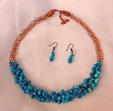 Sady šperkov - Náhrdelník s náušnicami - Tyrkenit - 9134232_