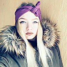 Ozdoby do vlasov - Vintage šatka do vlasov Purple - 9133079_
