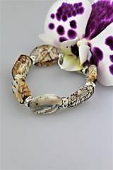 Snežný leopard - náramok achát luxusný