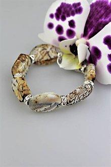 Náramky - Snežný leopard - náramok achát luxusný - 9133820_