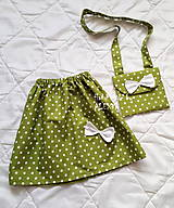 Detské oblečenie - Dievčenský set: suknička a kabelka - 9133205_