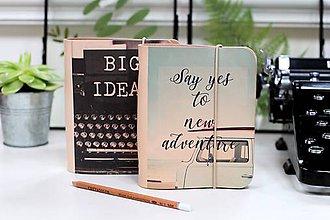 Papiernictvo - Kožené zápisníky motivačné A6 - 9130186_