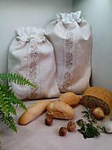Úžitkový textil - Darčeková sada - ľanové vrecká z ručne tkaného plátna - 9134319_
