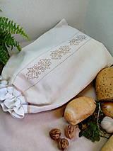 Úžitkový textil - Ľanové vrecko z ručne tkaného plátna - 9134350_