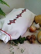 Úžitkový textil - Ľanové vrecko z ručne tkaného plátna - 9134428_