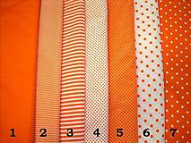 Textil - Bavlnená látka - kombinácia - oranžová - 9129800_