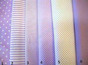 Textil - Bavlněná látka - kombinace svetlo fialová - 9131624_