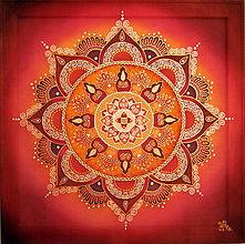 Obrazy - Mandala...Vášnivý bozk - 9134308_