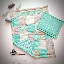 Textil - MINKY deka s menom ❤ - 9134042_