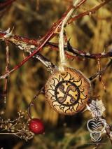 Náhrdelníky - Slnečný čarokruh - 9134580_