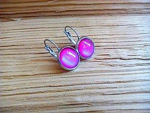 Náušnice - Ružové náušnice - 9130725_