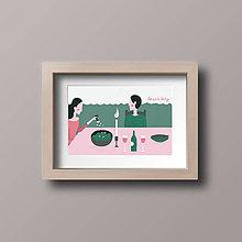 Grafika - Print Korenie lásky - 9130372_