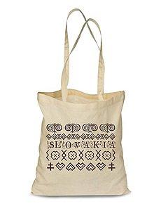 Nákupné tašky - Plátená Ekologická nákupná taška Čičmany vzor - 9132352_