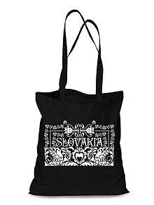 Nákupné tašky - Plátená Ekologická nákupná taška ľudový ornament (Červená) - 9132380_