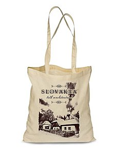 Nákupné tašky - Plátená Ekologická nákupná taška chalupky (Červená) - 9132400_