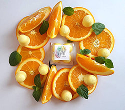 Svietidlá a sviečky - VÝPREDAJ Vonný vosk - Pomaranč - 9132239_