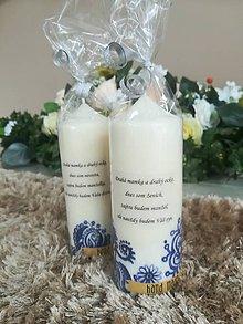 Darčeky pre svadobčanov - Svadobná sviečka - Pre svadobných rodičov- folklor - 9133224_