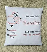 Textil - vankúšik ku narodeniu -vyšívaný - 9131563_