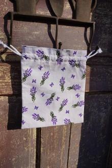 Úžitkový textil - vrecúško na levanduľu - 9129465_