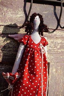 Dekorácie - bábika možno aj na valentína ♥ ♥ - 9129472_