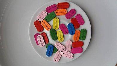Galantéria - HANDMADE-farebné štítky - 9131895_