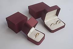 Prstene - Zásnubný prsteň / obrúčka obdĺžniková - vysoká zúžená - 9130760_