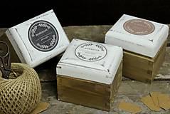 Krabičky - Čajová jednotka (HOMEMADE - biela) - 9133265_