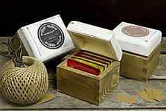 Krabičky - Čajová jednotka (HOMEMADE - biela) - 9133266_
