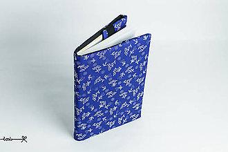 Papiernictvo - Obal na knihu otvárací - ako modrotlač - 9133970_