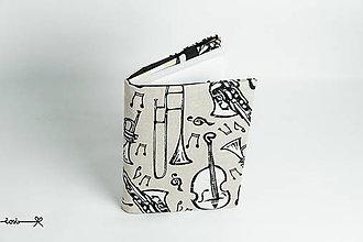 Papiernictvo - Obal na knihu otvárací - hudobný - 9134000_