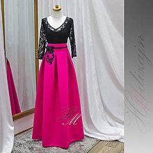 Sukne - Sukňa s vreckami a krajkovou aplikáciou - 9130224_