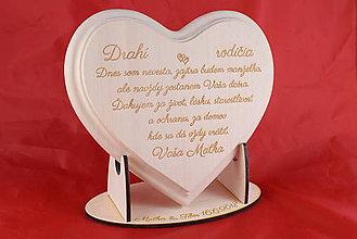 Darčeky pre svadobčanov - Poďakovanie Rodičom srdce lipove 15 - 9129947_