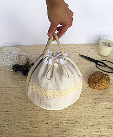 Úžitkový textil - Podšité multifunkčné vrecúško - 9133424_