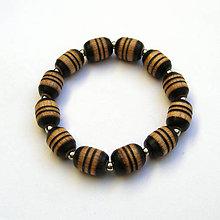 Náramky - Bukové korálky na gumičke - 9133190_