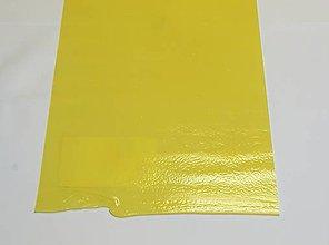 Suroviny - Sklo vanilkové, svetlo žlté, opálové, priehľadné, zn. Bullseye, 23x51 cm - 9135202_