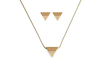 Náušnice - Liti set Earrings & Necklace - 9137688_