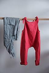 Iné oblečenie - Detský ľanový overal - 9137821_