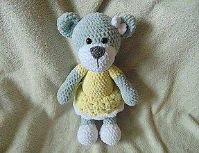 Hračky - Žltosivá medvedica :) - 9135058_