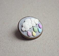 Odznaky/Brošne - Pastelový dážď - 9137507_