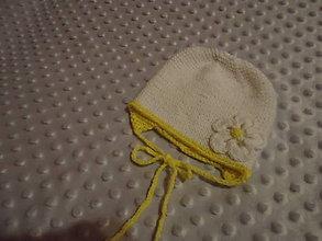 Detské čiapky - Baby čiapočka, kvietok - 9137275_