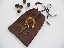 Úžitkový textil - Tak ako slnečnica ...(vyšívané vrecúško) - 9137083_