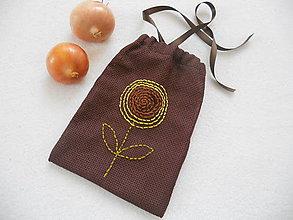 Úžitkový textil - Tak ako slnečnica ...(vyšívané vrecúško) - 9137090_