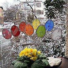 Dekorácie - Vitrážové velikonoční kraslice - 9134792_