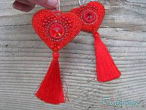 Heart collection...vyšívané (Red/Siam)