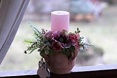 Dekorácie - Jarný svietnik - 9135693_