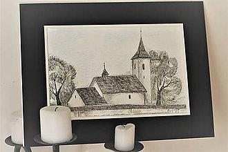 Kresby - Kostolík - 9135203_