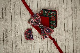 Doplnky - Pánsky folk set motýlik, vreckovka, ozdoba do klopy (Celý folk set (motylik, ozdoba do klopy, vreckovka)) - 9134651_