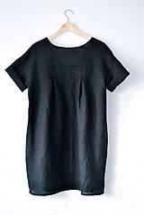 Šaty - Ľanové šaty NORA čierne - 9137033_